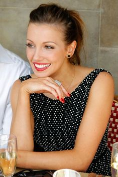 Katie Cassidy in Dior #hair #beauty Visit www.makeupbymisscee.com for hair and beauty inspiration