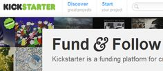 Using kickstarter to fund art projects