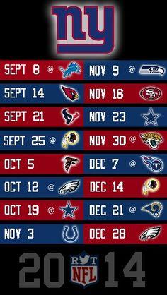 NFL 2014 NEW YORK GIANTS IPHONE 5 WALLPAPER SCHEDULE