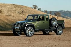 Jeep Gladiator concept vehicle.  COME ON JEEP! BUILD IT!