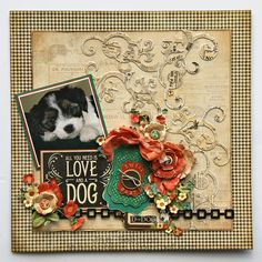 Pet Layout - Scrapbook.com - Made with the Raining Cats and Dogs Collection by Graphic 45