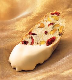 Biscotti with cranberries, and pistachios!