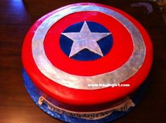 birthday parti, superhero birthday, cakes, captain america, america cake
