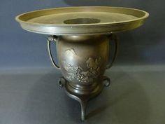 Vintage Japanese copper Usubata Ikebana vase