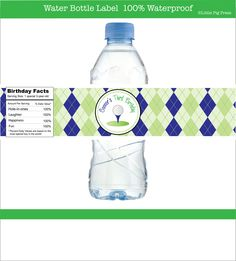 Golf Party -- Personalized Water Bottle Labels  -- Set of 15. $15.00, via Etsy.