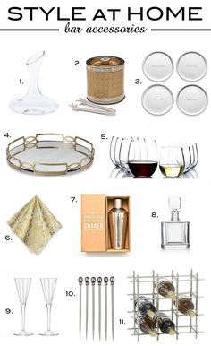 Style at Home | Bar Accessories