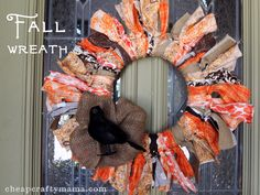 Fall Wreath {cheap and easy}!