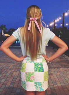 Lilly skirt, polo, bow