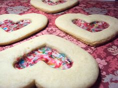 Valentine's Stained Glass Cookies