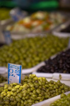 olives at the market, Athens, Greece