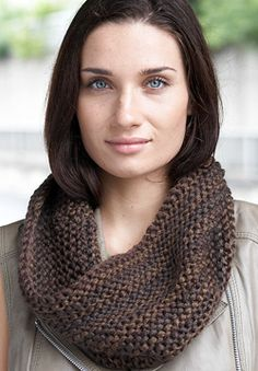 Beginners will feel like pros as they learn the garter stitch seam, turning this project (knit flat) into a gorgeous cowl. Shown in Patons Delish. (Free knitting pattern)
