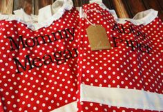 Personalized mother daughter aprons
