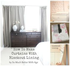 How To Make Curtains With Blackout Lining www.somuchbetterwithage.com