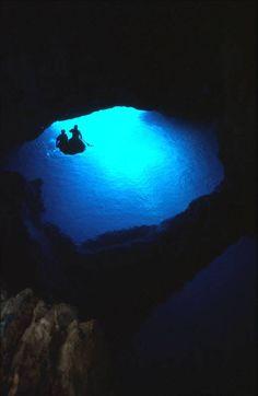 Blue Cave, Island Bishevo, Croatia!