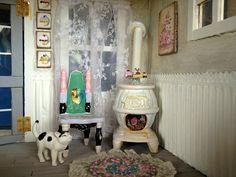 Shabby fairy dollhouse stove by Torisaur, via Flickr