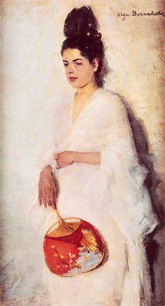 Olga Boznanska (Polish Impressionist painter, 1865-1945) - Japonka, 1889