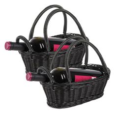 Black #Wine #Baskets -  Just add a pretty ribbon or bow and dad's favorite bottle of wine to make this a great gift!
