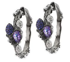 T2 mystique...  (Dweck Diamonds Sterling Fortuna 1.05 ct Blue Sapphire & Iolite Earrings)