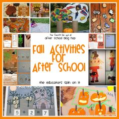 Our Favorite Fall Activities featured at the After School Linky Party on The Educators' Spin On It.