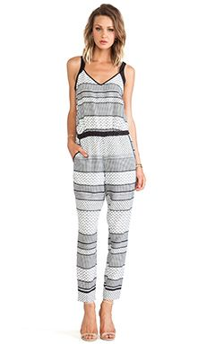 BB Dakota Holloway Striped Foulard Romper in Black & White | REVOLVE