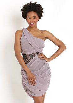 Jealous Tomato One-Shoulder Dress with Lace Accents. Join ideeli here: http://www.ideeli.com/invite/gandalfy