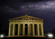 The Parthenon during a thunderstorm......Nashville, TN