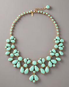 kate spade new york Turquoise Bib Necklace - Neiman Marcus