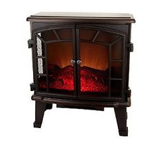 12/20/13. Bronze or cinnamon. Duraflame Large Electric Stove Heater with Screen Front