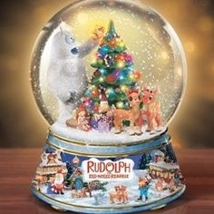 music box, snow globes, christmas, water globe, christma music, children, rudolph the red nosed reindeer, adult snowglobes, music snow