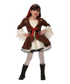 Another great find on #zulily! Ivory & Brown Pirate Princess Dress-Up Set - Girls #zulilyfinds