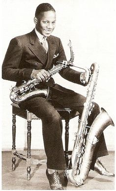 Harry Carney (1935)  Anchored Duke Ellington's Orchestra for nearly half a century.
