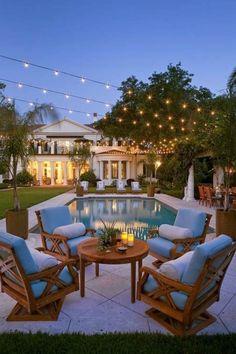 Swimming Pool Lighting Ideas : string pool lighting ideas