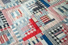 Plaids and stripes....use men's shirts