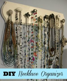 DIY Necklace Organizer  {love all the different knobs!}