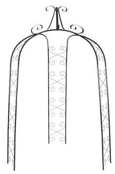 @Karen LeBlanc  this might work for Mom's yard CobraCo GAZ-G 3-Sided Gazebo Arch by CobraCo, http://www.amazon.com/dp/B0002CF074/ref=cm_sw_r_pi_dp_zsUqsb1VM6712