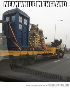 Driving in England when suddenly…