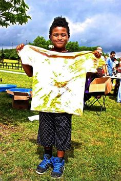 Photo Thursday! Herbal tie dye at Great Plains Nature Center.