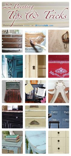22 {Furniture Painting} Tips & Tricks!