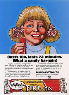 Jolly Rancher Fire Stix magazine ad - March 1977 - National Candy Wholesaler Page - 027 by JasonLiebig, via Flickr