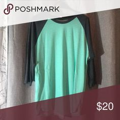 Mint Randy The mint Randy is magic! Soft and comfortable. Perfect for fall! LuLaRoe Tops Tees - Long Sleeve