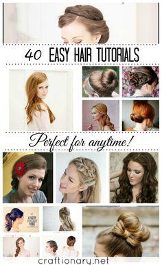 Easy hair tutorials for long and short hair #hairstyles #longhair #shorthair