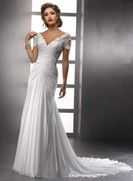 Mature brides who want sleeves this beautful wedding dress is for you! Lyla - by Maggie Sottero