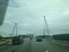 Crane-a-palooza along I-95 North… HOT!