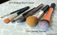 DIY TWO Ingredient Makeup Brush Cleaner & Brush Cleaning Tutorial! I did it....works like a charm!
