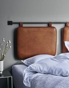 Good things come in pairs. Introducing the DUO HEADBOARD made in the finest aniline leather in the world. The headboard is designed and handmade in Denmark.