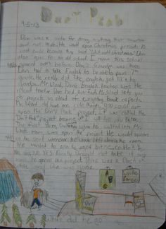 "7th grader Mackenzie won a ""Mr. Stick of the Week"" award with this page from her Writer's Notebook.  Learn more about Mr. Stick at this page my website: http://corbettharrison.com/Mr_Stick.html"