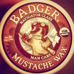 via @jabanksie #luxurious #badger #MustacheWax #StacheCare #organic #mustache