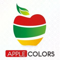 Abstract logo for an apple with all apple colors in a simple, clean, modern & fresh style.    Perfectly used for natural productions, restaurant, software, applications, ads, development, multimedia, food, fruits & balanced diet blog.    It can be also used for a country business that has flag with apple colors as Ghana, Bolivia and so on.
