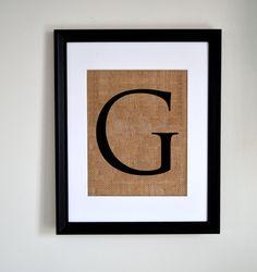 """""""G"""" Burlap"""
