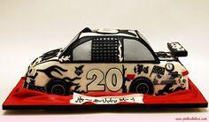 Birthday Nascar Style Cake by Pink Cake Box